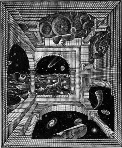 MC Escher Other World 1947